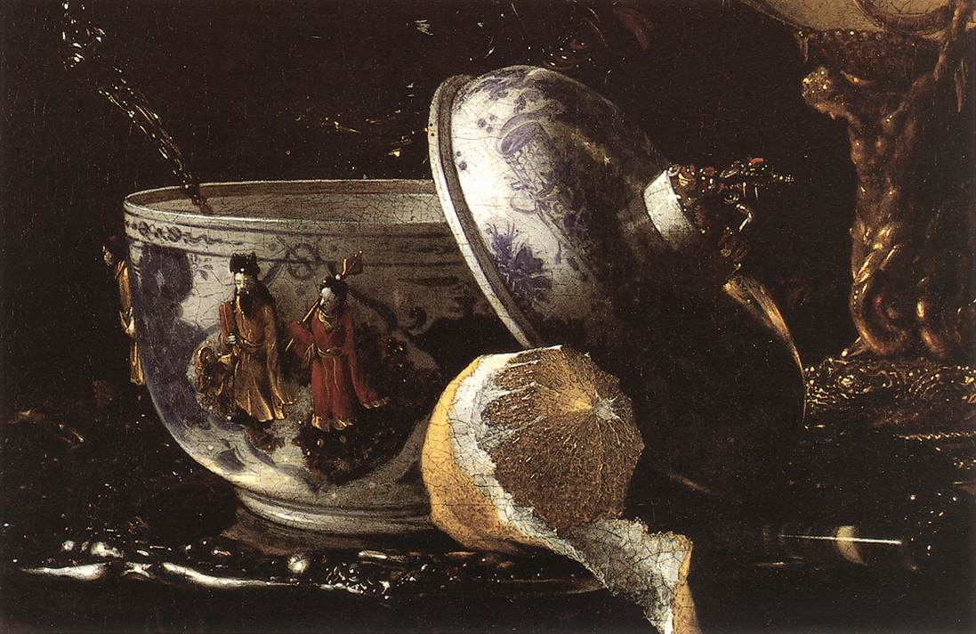 Still Life With A Nautilus Cup (Detail) 1662 | Willem Kalf | oil painting