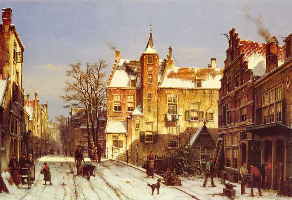 A Dutch Village In Winter | Willem Koekkoek | oil painting