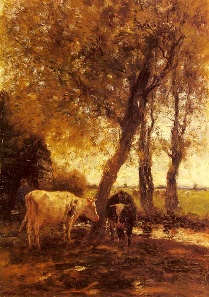 Cattle By A Stream | Willem Maris | oil painting