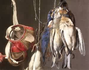 Hunting Still Life (Detail) 1665 | Willem Van Aelst | oil painting