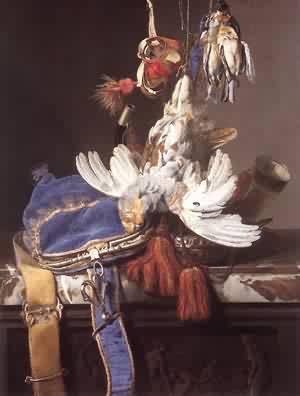 Hunting Still Life 1665 | Willem Van Aelst | oil painting