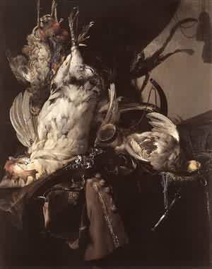 Still Life Of Dead Birds And Hunting Weapons 1660 | Willem Van Aelst | oil painting