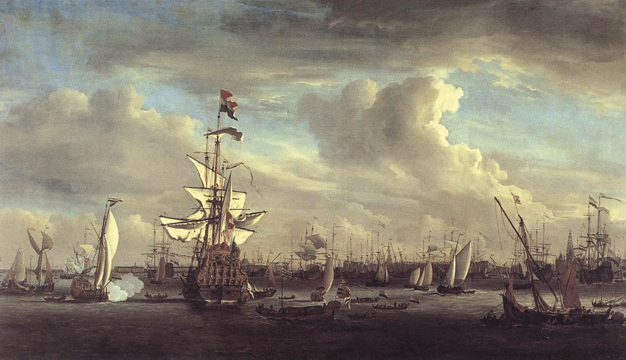 The Gouden Leeuw Before Amsterdam 1686 | Willem Van De The Younger Velde | oil painting