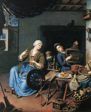 The Spinner | Willem Van Mieris | oil painting
