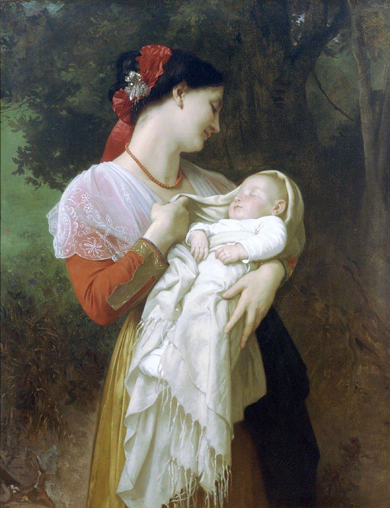 Admiration Maternelle | William Bouguereau | oil painting