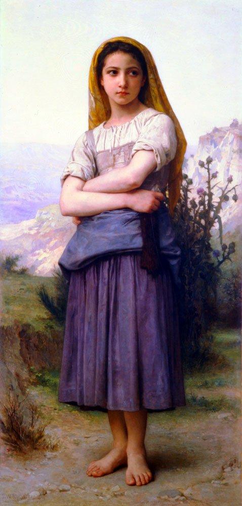 Bergere 1886 | William Bouguereau | oil painting