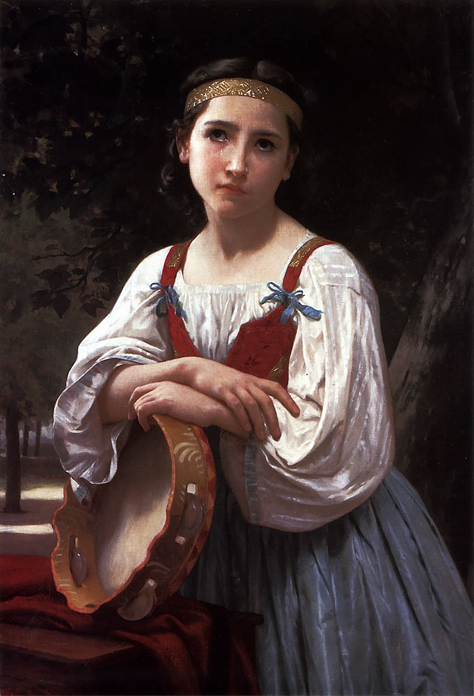 Bohemienne Au Tambour De Basque | William Bouguereau | oil painting
