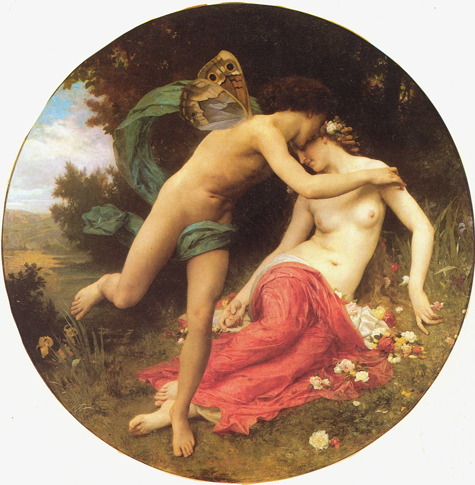Cupid And Psyche | William Bouguereau | oil painting
