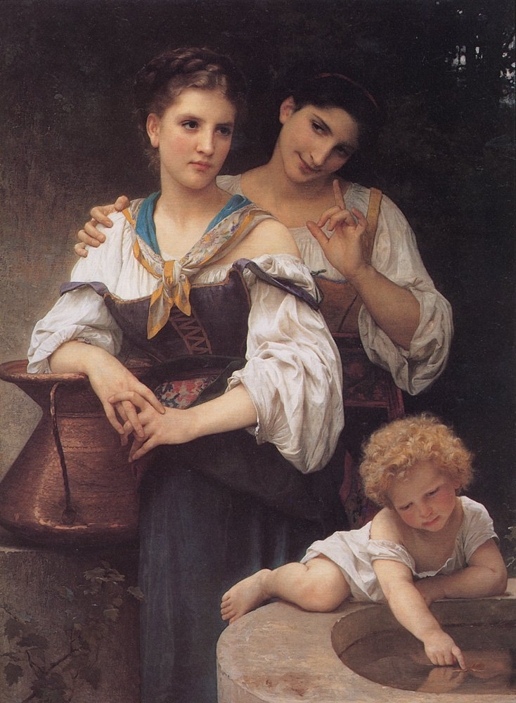 Le Secret | William Bouguereau | oil painting