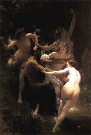 Nymphs And Satyr 1873 | William Bouguereau | oil painting