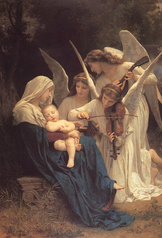 Song Of The Angels | William Bouguereau | oil painting