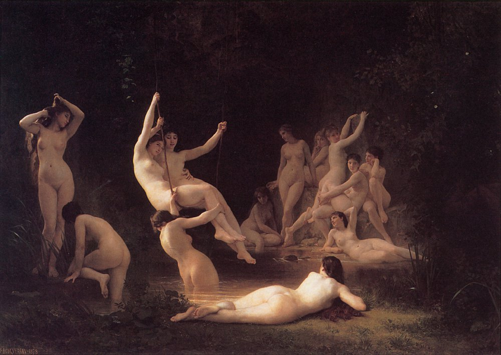The Nymphaeum | William Bouguereau | oil painting