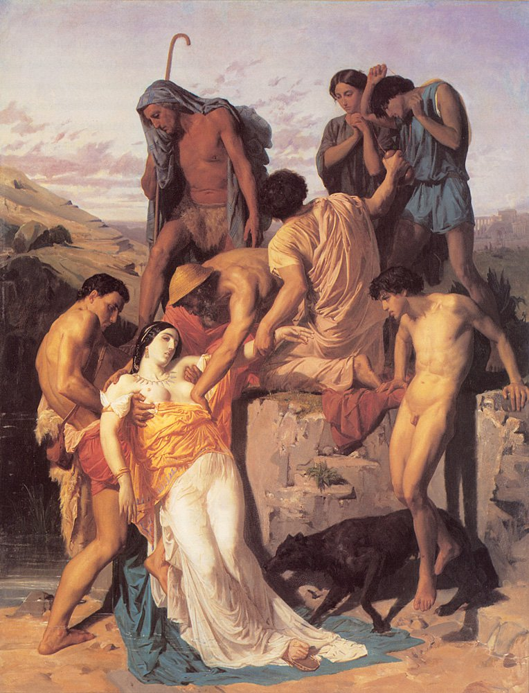 Zenobia Found By Shepherds | William Bouguereau | oil painting