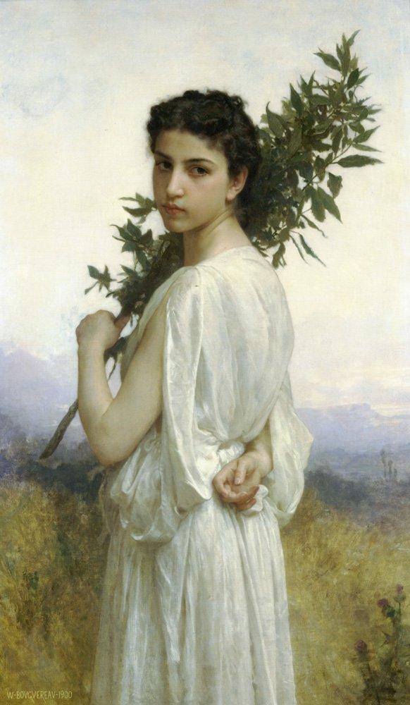 Branche De Laurier | William Bouguereau | oil painting