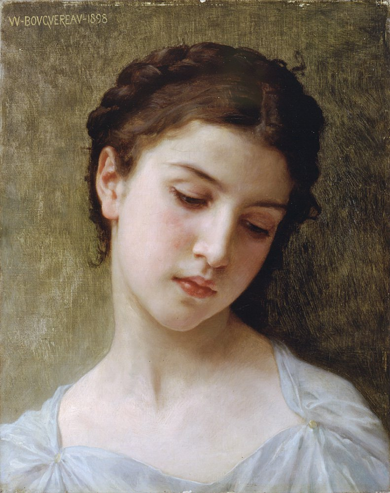 Etude Tete De Jeune Fille | William Bouguereau | oil painting