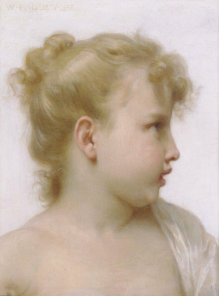 Etude Tete De Petite Fille Tete De Petite Fille | William Bouguereau | oil painting