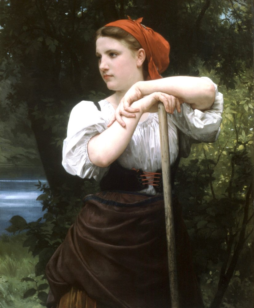 Faneuse | William Bouguereau | oil painting