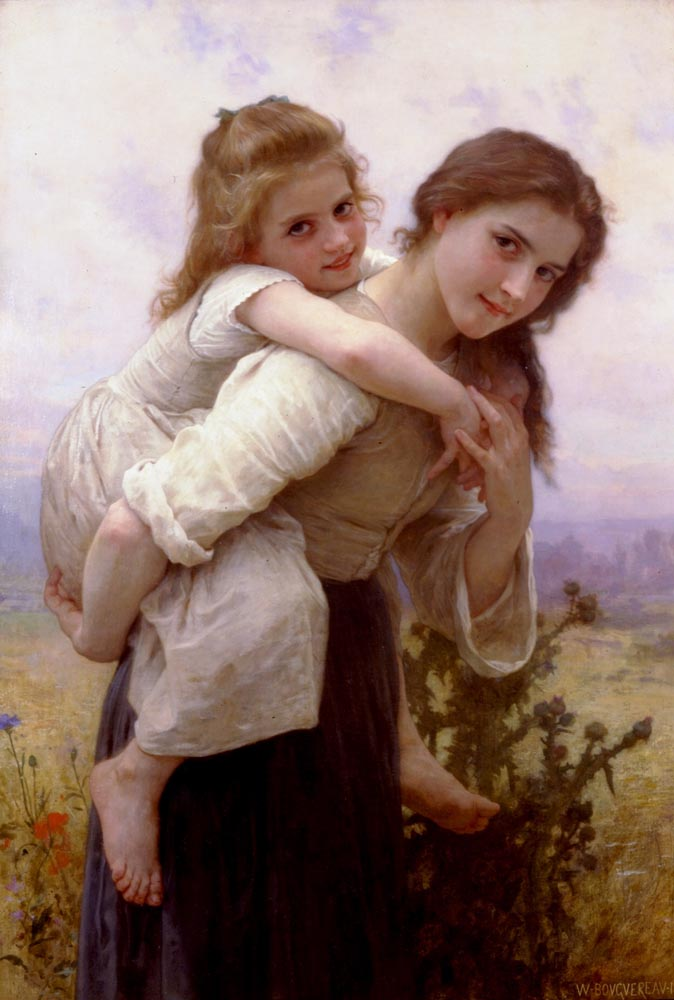 Fardeau Agreable | William Bouguereau | oil painting