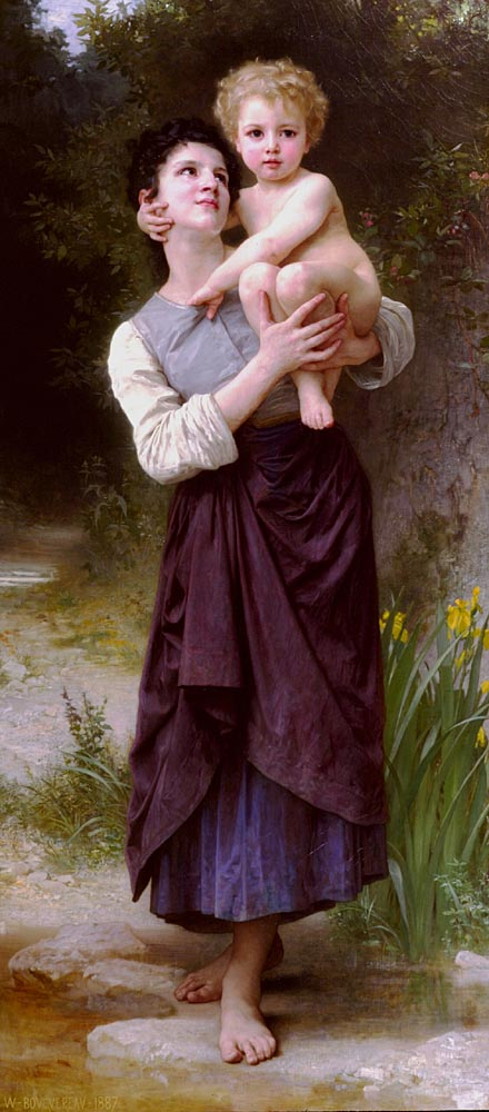 Frere Et Soeur (Brother and SIster) | William Bouguereau | oil painting
