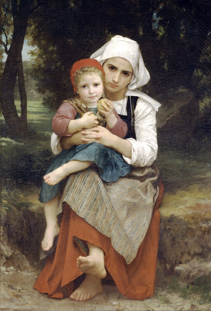 Frere Et Soeur Bretons (Breton Brother and Sister) | William Bouguereau | oil painting
