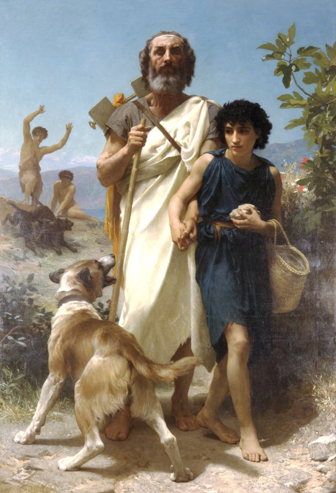 Homere Et Son Guide (Homer and his Guide) | William Bouguereau | oil painting