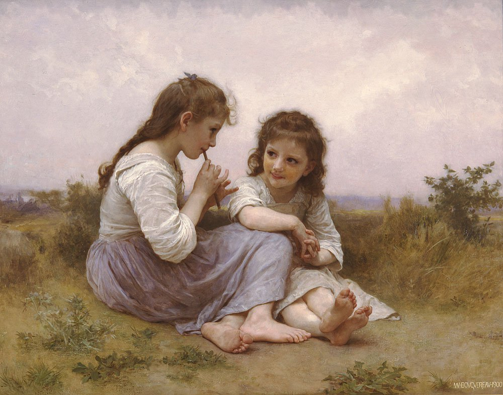 Idylle Enfantine (Childish Romance) | William Bouguereau | oil painting
