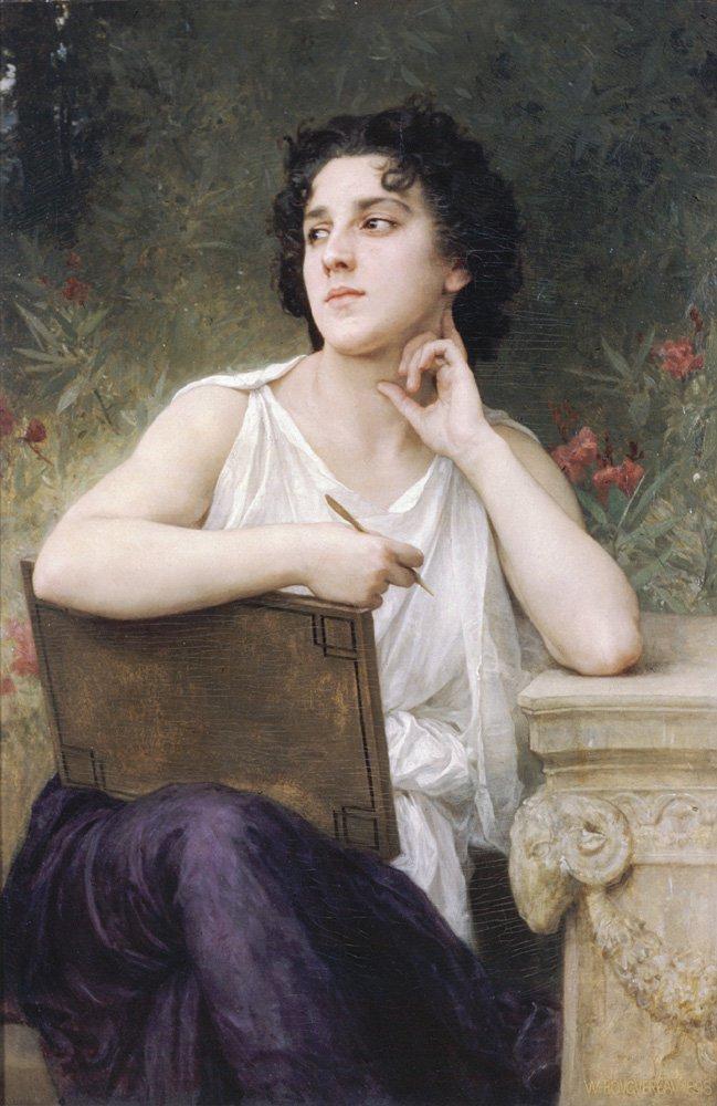 Inspiration   William Bouguereau   oil painting
