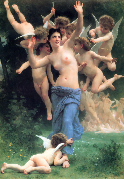 Invading Cupids Realm | William Bouguereau | oil painting