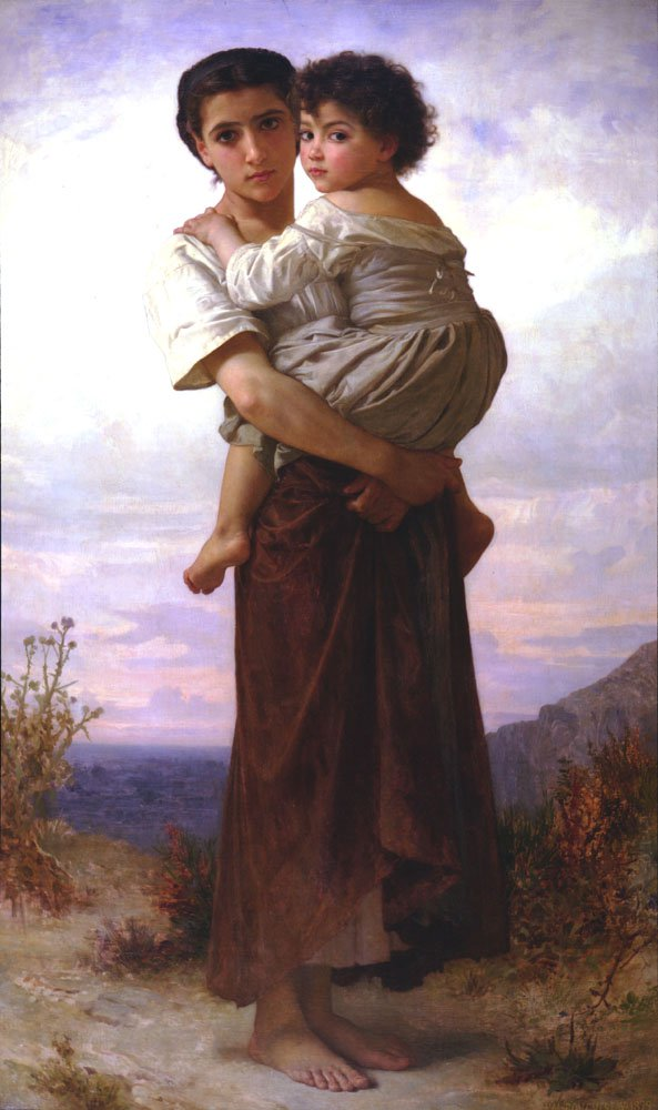 Jeunes Bohemiennes (Young Gypsy) | William Bouguereau | oil painting