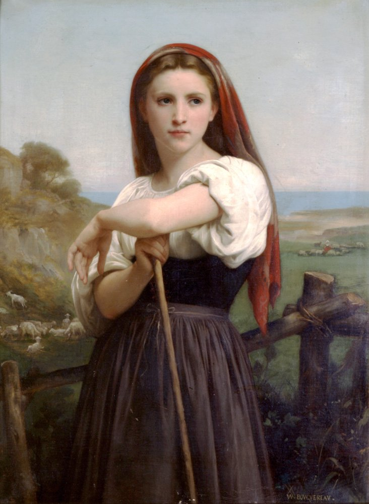Jeune Bergere 1868 | William Bouguereau | oil painting