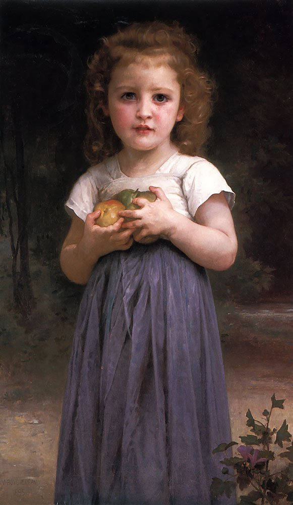 Jeune Fille Et Enfant | William Bouguereau | oil painting