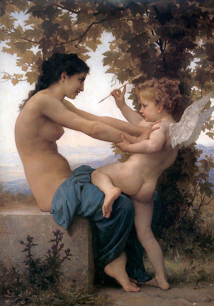 Jeune Fille Se Defendant Contre Lamour | William Bouguereau | oil painting