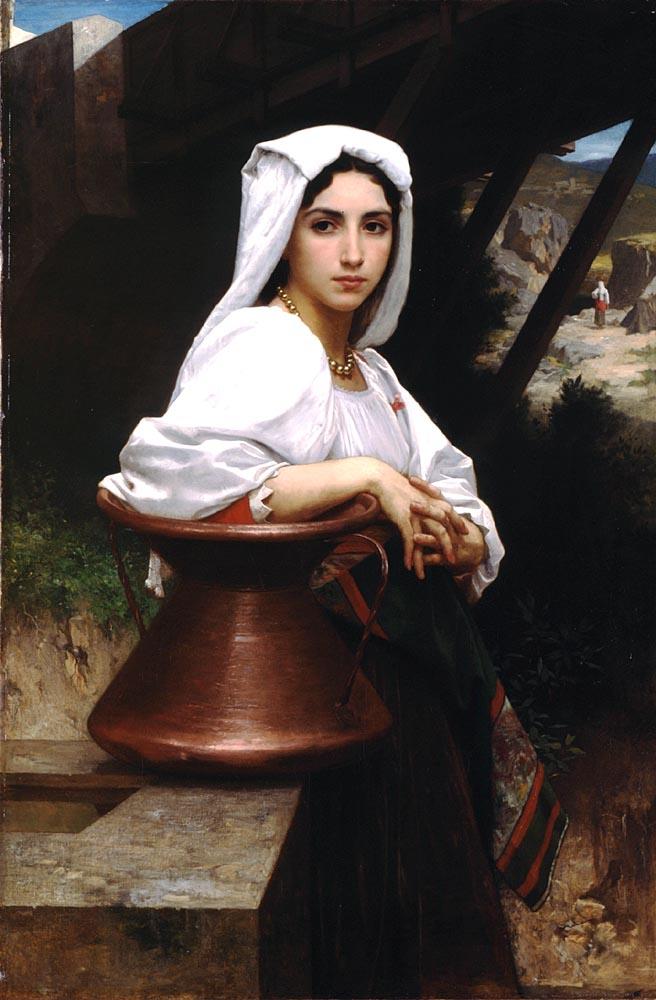 Jeune Italienne Puisant De Leau | William Bouguereau | oil painting