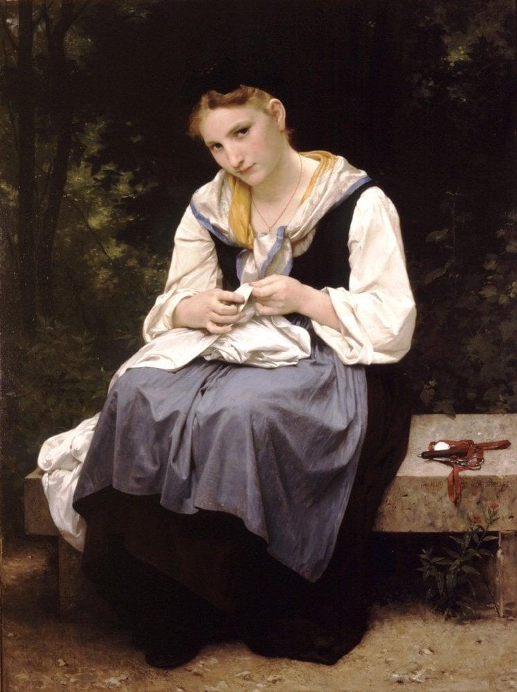 Jeune Ouvriere | William Bouguereau | oil painting
