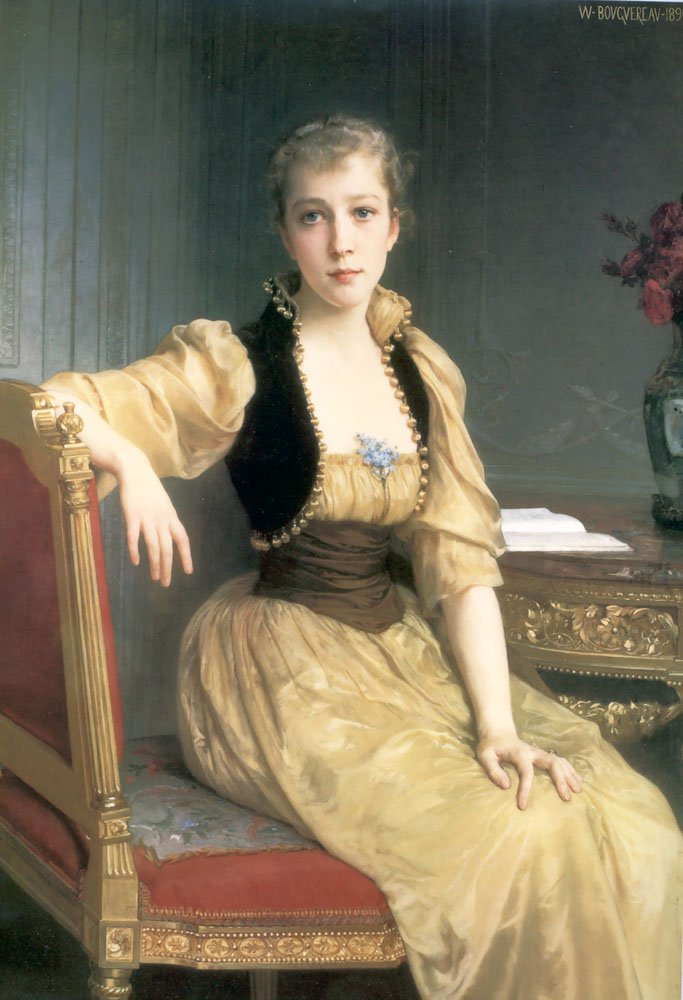 Lady Maxwell 1890 | William Bouguereau | oil painting