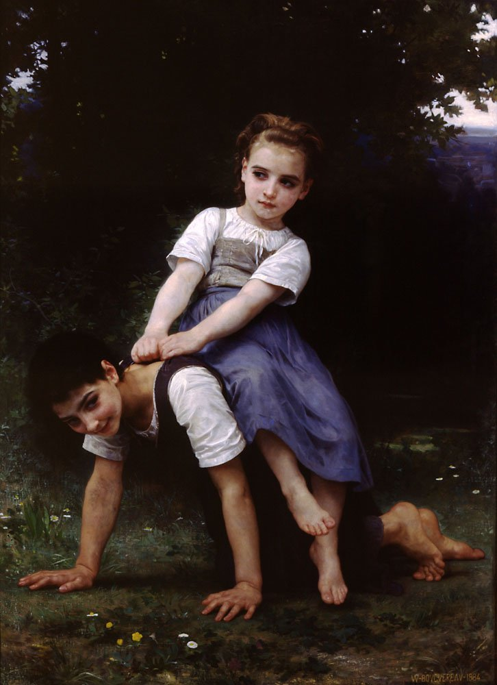 La Bourrique Oil On Canvas | William Bouguereau | oil painting