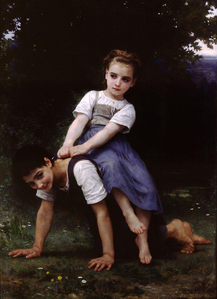 La Bourrique Oil On Canvas | William Bouguereau | oil painting