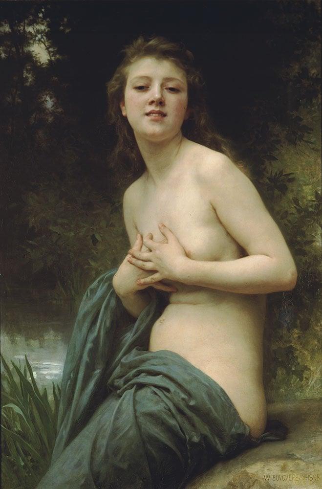 La Brie Du Printemps | William Bouguereau | oil painting