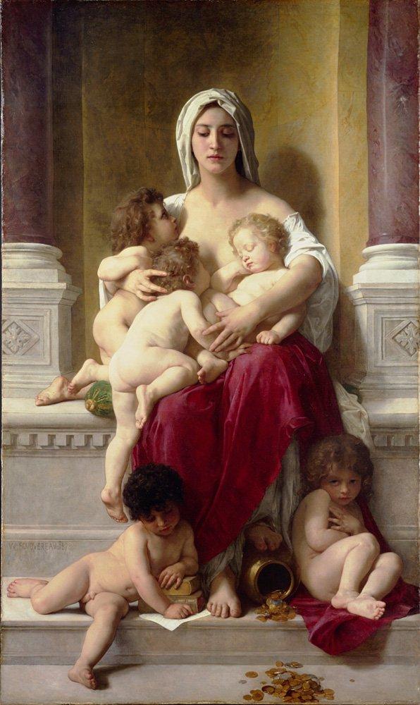 La Charite | William Bouguereau | oil painting