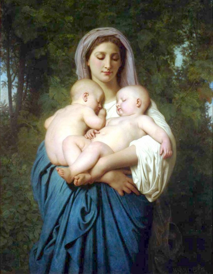 La Charite 1859 | William Bouguereau | oil painting