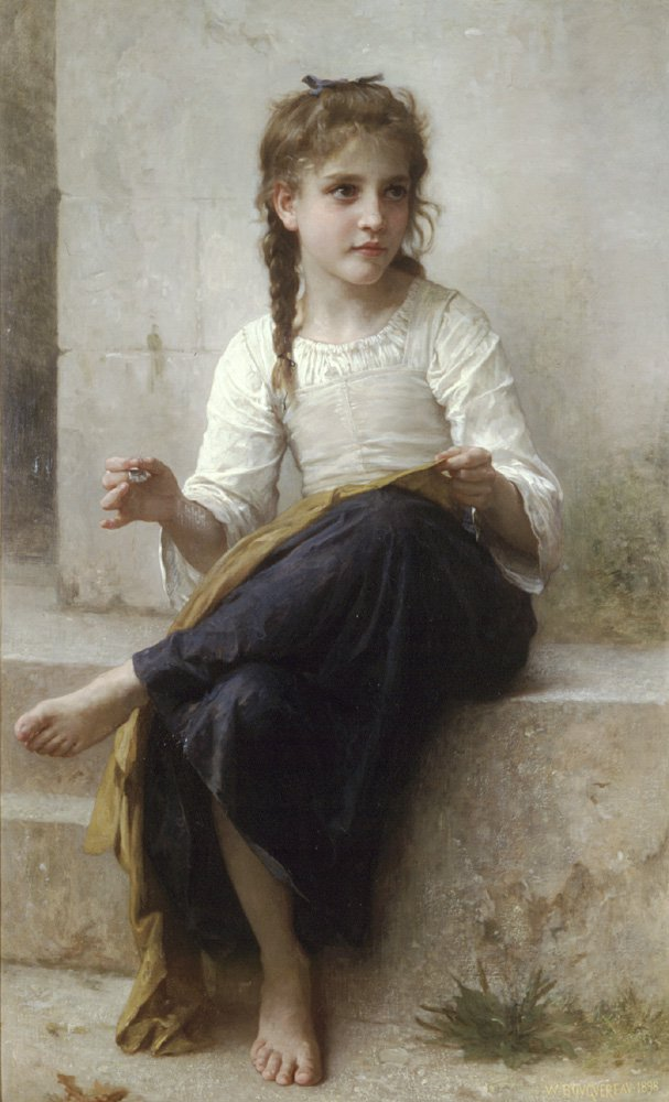 La Couturiere | William Bouguereau | oil painting