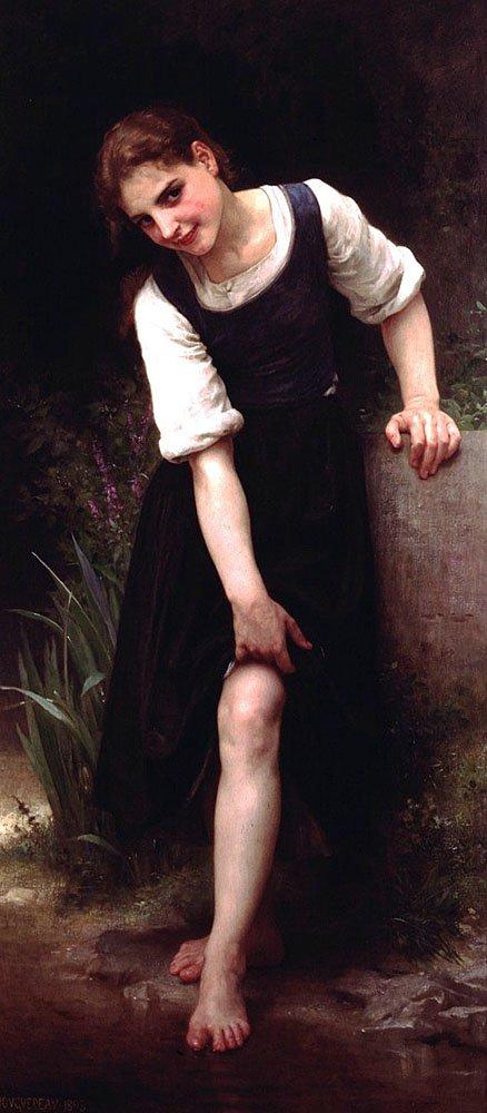 La Gue | William Bouguereau | oil painting