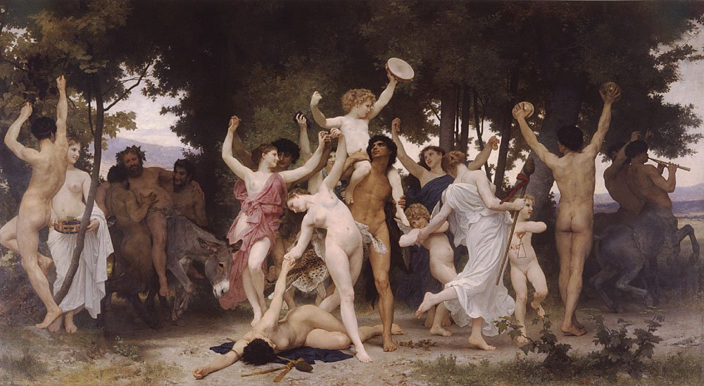 La Jeunesse De Bacchus | William Bouguereau | oil painting