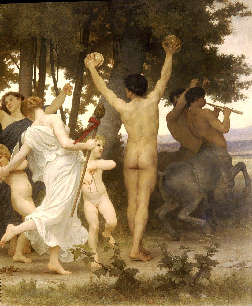 La Jeunesse De Bacchus Right Detail | William Bouguereau | oil painting