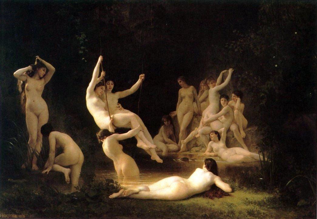 La Nymphee | William Bouguereau | oil painting
