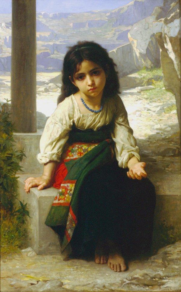La Petite Mendiante | William Bouguereau | oil painting