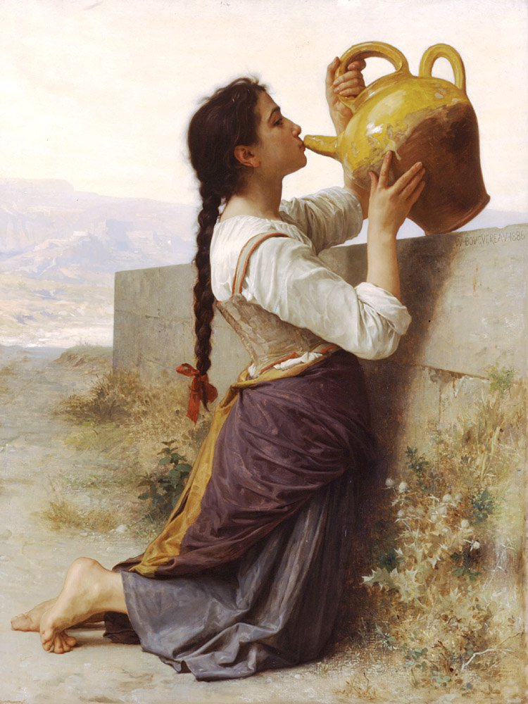La Soif | William Bouguereau | oil painting