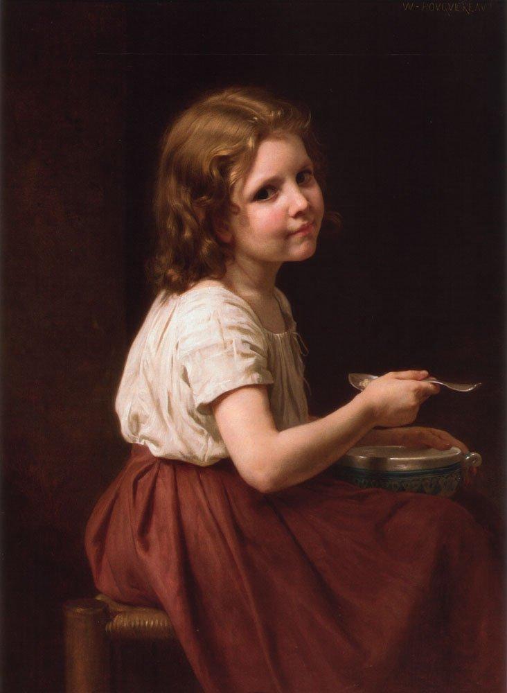 La Soupe | William Bouguereau | oil painting