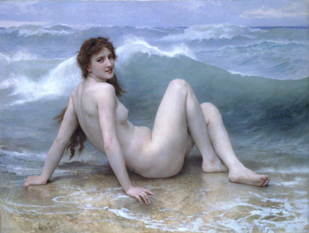 La Vague | William Bouguereau | oil painting