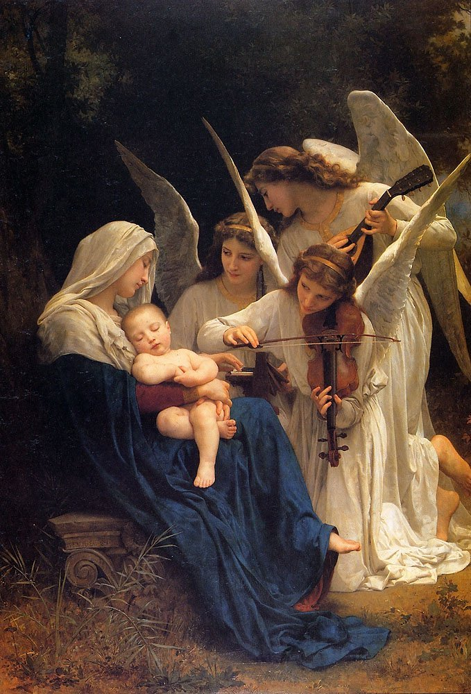 La Vierge Aux Anges | William Bouguereau | oil painting